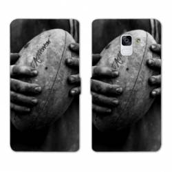 Housse cuir portefeuille Samsung Galaxy S9 Rugby