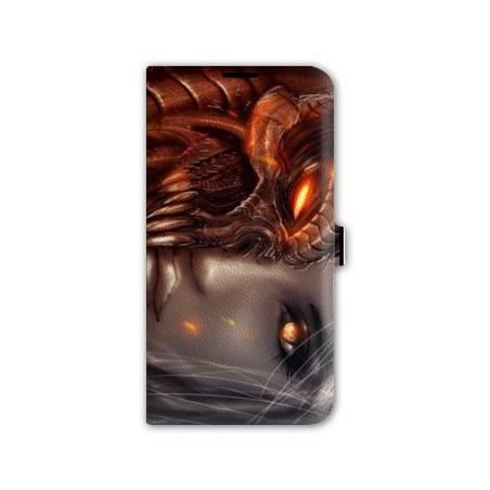 Housse portefeuille cuir Iphone 6 plus + Fantastique