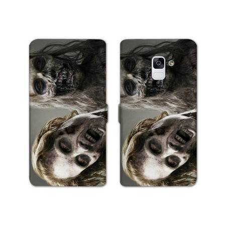 Housse cuir portefeuille Samsung Galaxy S9 Horreur