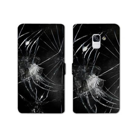 Housse cuir portefeuille Samsung Galaxy S9 Trompe oeil