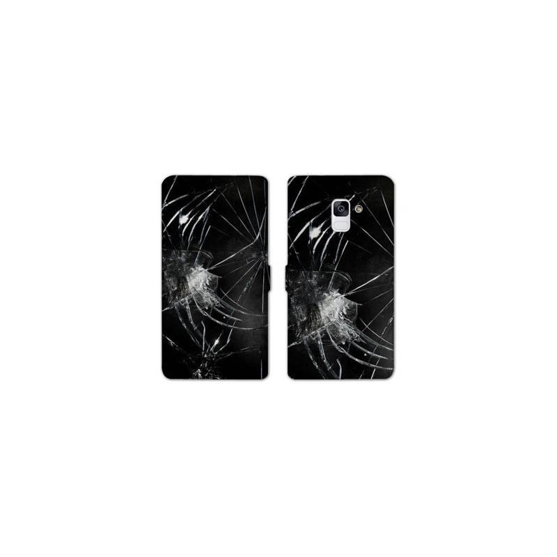 RV Housse cuir portefeuille pour Samsung Galaxy S9 Trompe oeil
