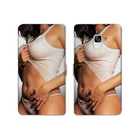 Housse cuir portefeuille Samsung Galaxy S9 Sexy