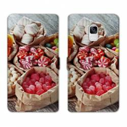 Housse cuir portefeuille Samsung Galaxy S9 Gourmandise