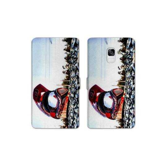 RV Housse cuir portefeuille pour Samsung Galaxy S9 Moto