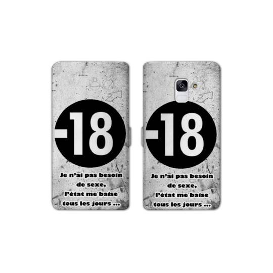 RV Housse cuir portefeuille Samsung Galaxy S9 Humour