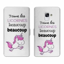 Housse cuir portefeuille Samsung Galaxy S9 Decale