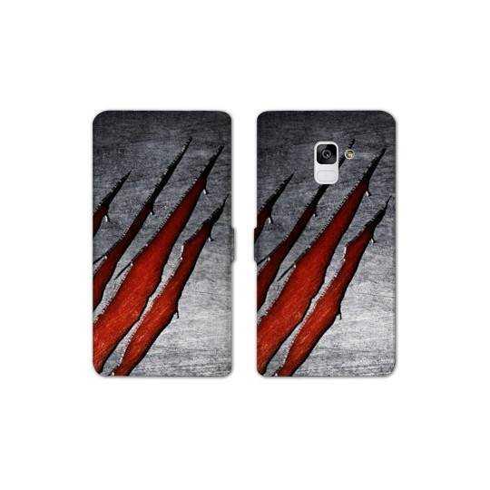 RV Housse cuir portefeuille Samsung Galaxy S9 Texture