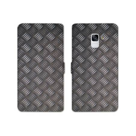 Housse cuir portefeuille Samsung Galaxy S9 Texture