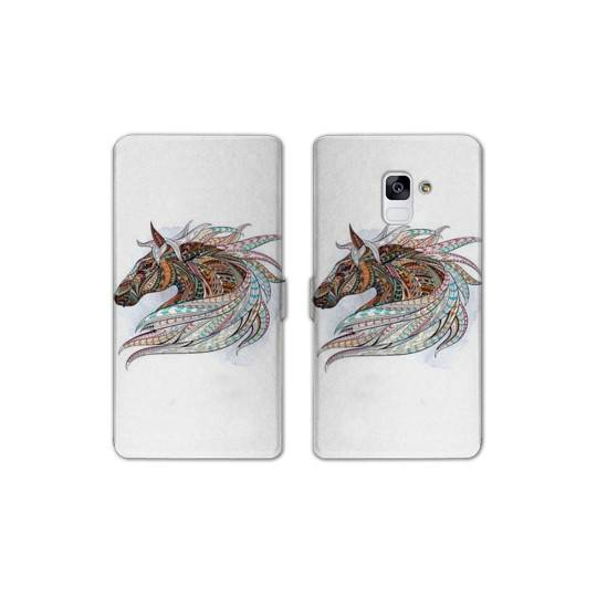 RV Housse cuir portefeuille Samsung Galaxy S9 Animaux Ethniques