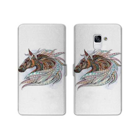 Housse cuir portefeuille Samsung Galaxy S9 Animaux Ethniques