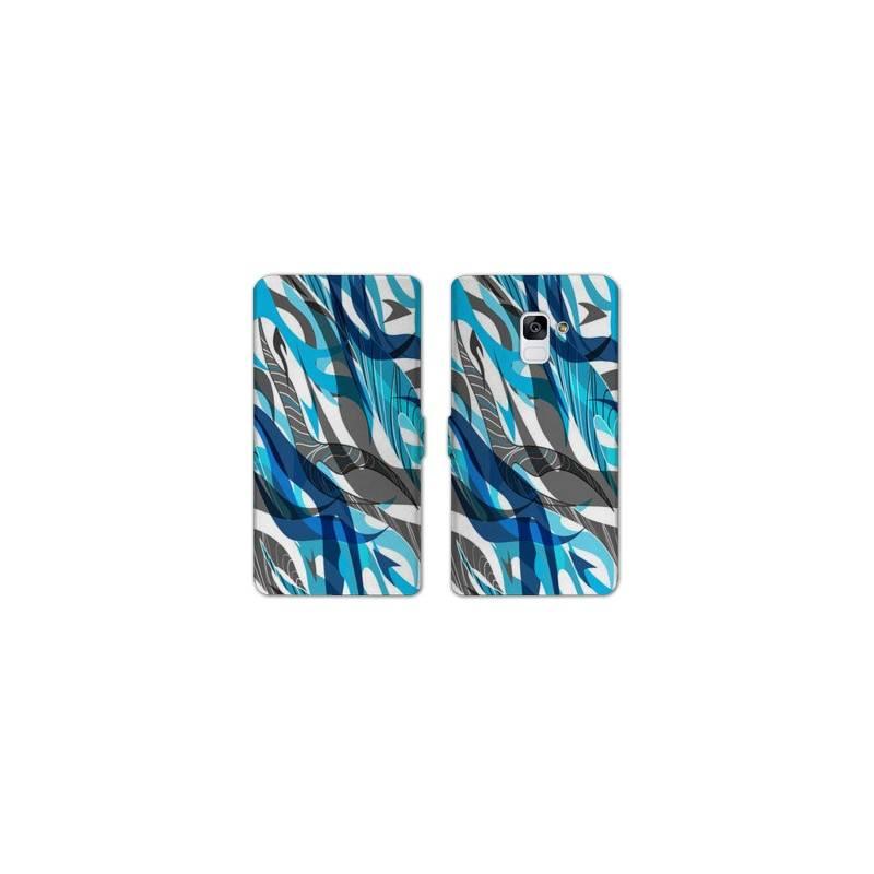 RV Housse cuir portefeuille Samsung Galaxy S9 Etnic abstrait