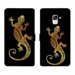 Housse cuir portefeuille Samsung Galaxy S9 Animaux Maori