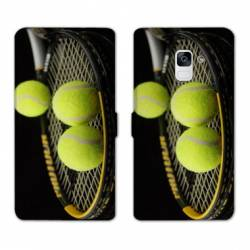Housse cuir portefeuille Samsung Galaxy S9 Tennis