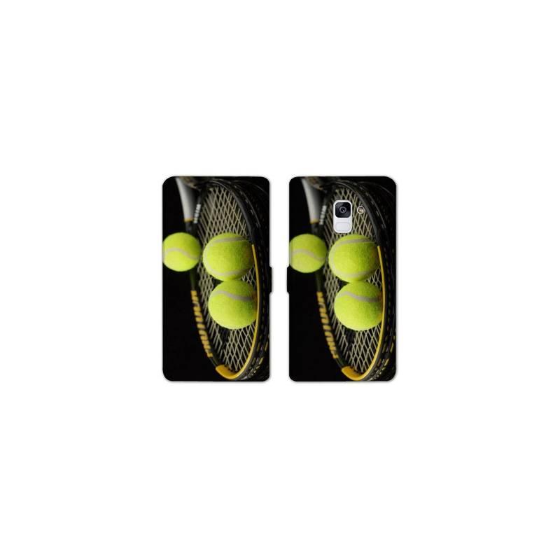 RV Housse cuir portefeuille Samsung Galaxy S9 Tennis