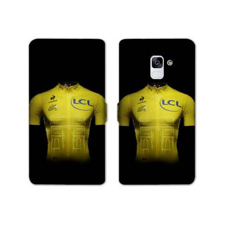 Housse cuir portefeuille Samsung Galaxy S9 Cyclisme