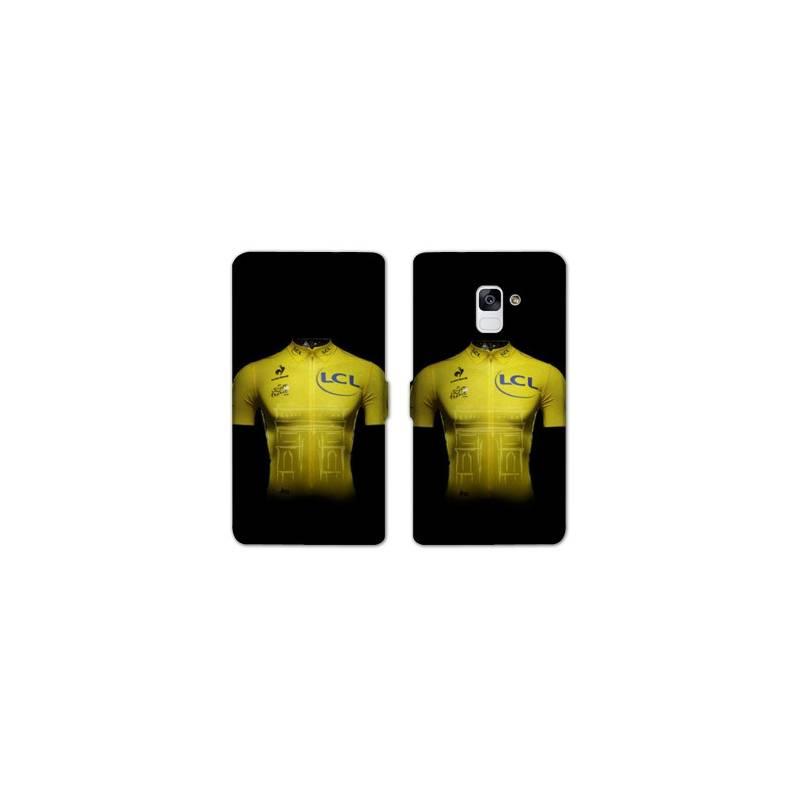 RV Housse cuir portefeuille Samsung Galaxy S9 Cyclisme