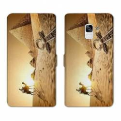 Housse cuir portefeuille Samsung Galaxy S9 Egypte