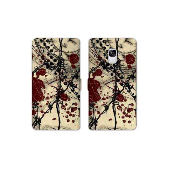 RV Housse cuir portefeuille Samsung Galaxy S9 Grunge