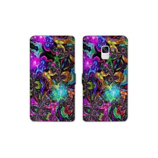 RV Housse cuir portefeuille Samsung Galaxy S9 Psychedelic