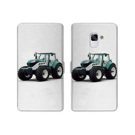 Housse cuir portefeuille Samsung Galaxy S9 Agriculture