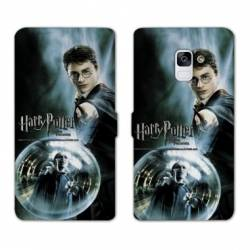 Housse cuir portefeuille Samsung Galaxy S9 WB License harry potter C