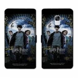 RV Housse cuir portefeuille Samsung Galaxy S9 WB License harry potter D
