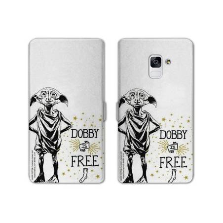 Housse cuir portefeuille Samsung Galaxy S9 WB License harry potter dobby
