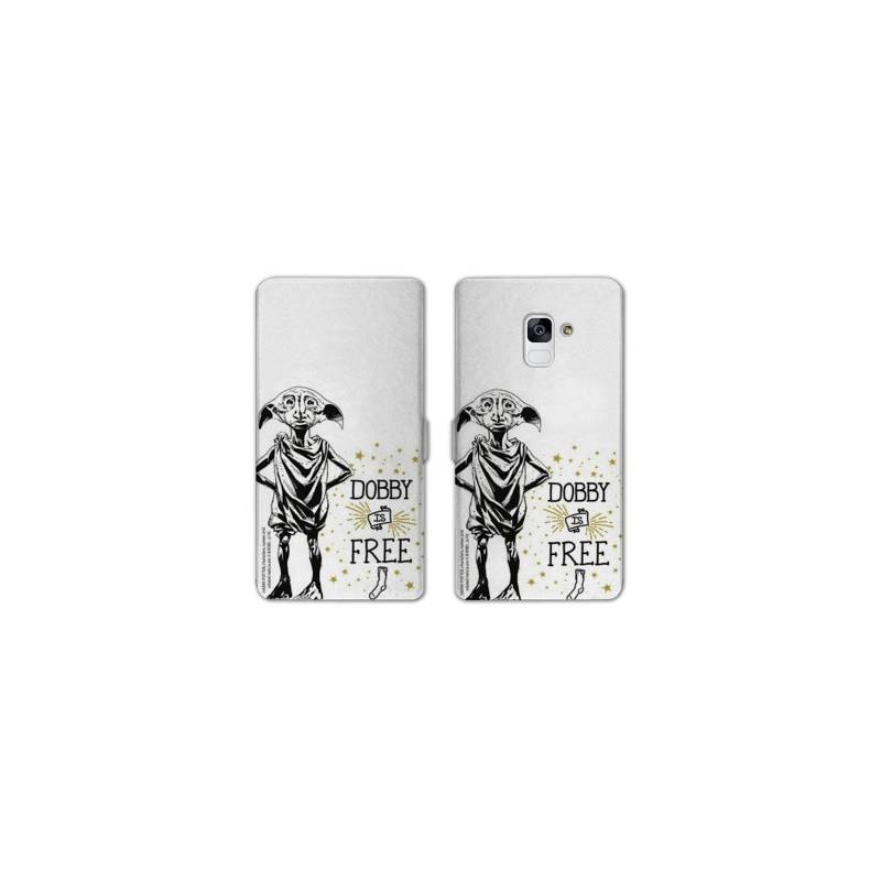 RV Housse cuir portefeuille Samsung Galaxy S9 WB License harry potter dobby