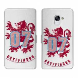 RV Housse cuir portefeuille Samsung Galaxy S9 WB License harry potter pattern