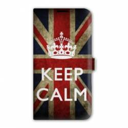 housse cuir portefeuille Iphone 6 plus / 6s plus Keep Calm