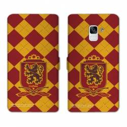 RV Housse cuir portefeuille Samsung Galaxy S9 WB License harry potter ecole