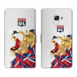 Housse cuir portefeuille Samsung Galaxy S9 License Olympique Lyonnais OL - lion color