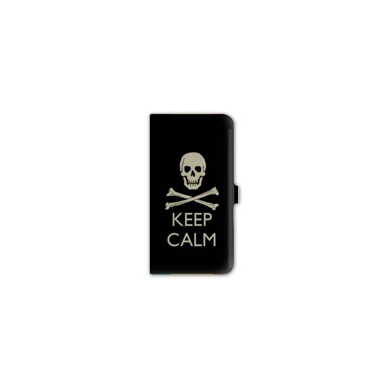 Housse portefeuille cuir iphone 6 plus keep calm for Housse cuir iphone 6
