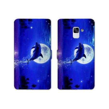Housse cuir portefeuille Samsung Galaxy S9 animaux