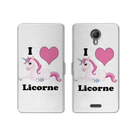 RV Housse cuir portefeuille Wiko jerry2 / jerry 2 Licorne