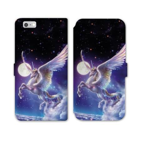 RV Housse cuir portefeuille Iphone 6 / 6s Licorne