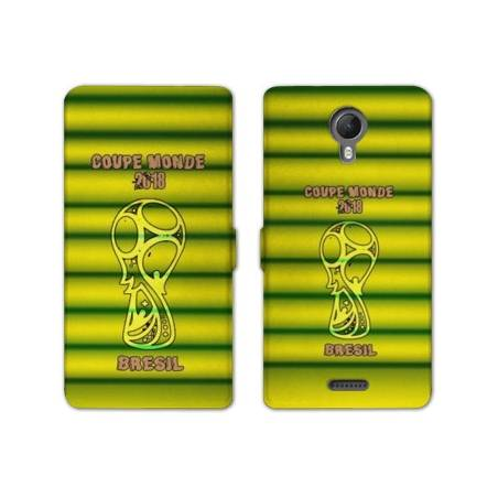 RV Housse cuir portefeuille Wiko jerry2 / jerry 2 coupe monde football 2018
