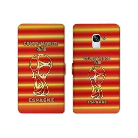 Housse cuir portefeuille Samsung Galaxy S9 coupe monde football 2018