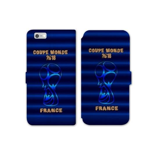 RV Housse cuir portefeuille Iphone 8 coupe monde football 2018