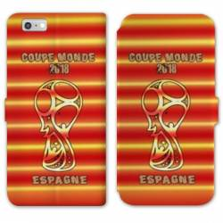 RV Housse cuir portefeuille Iphone 6 / 6s coupe monde football 2018