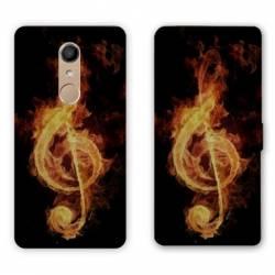 RV Housse cuir portefeuille Nokia 8 Musique