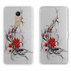 RV Housse cuir portefeuille Nokia 8 fleurs