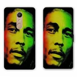 RV Housse cuir portefeuille Nokia 8 Bob Marley
