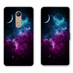 RV Housse cuir portefeuille Nokia 8 Espace Univers Galaxie