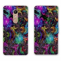 RV Housse cuir portefeuille Nokia 8 Psychedelic