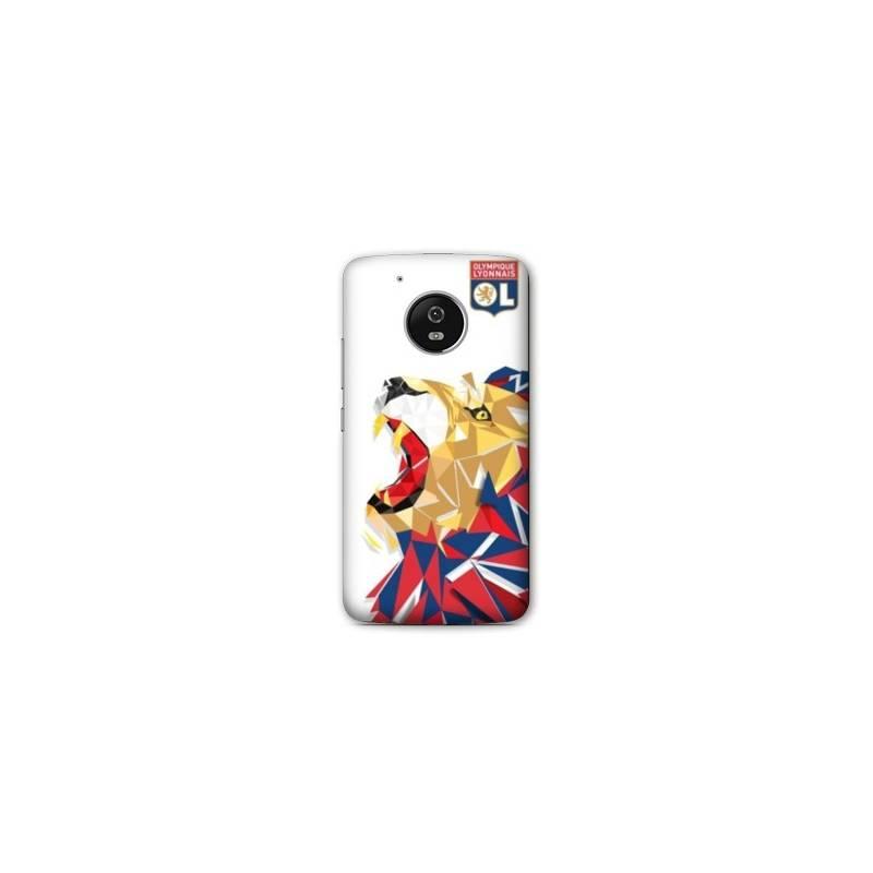Coque Motorola Moto E4 License Olympique Lyonnais OL - lion color