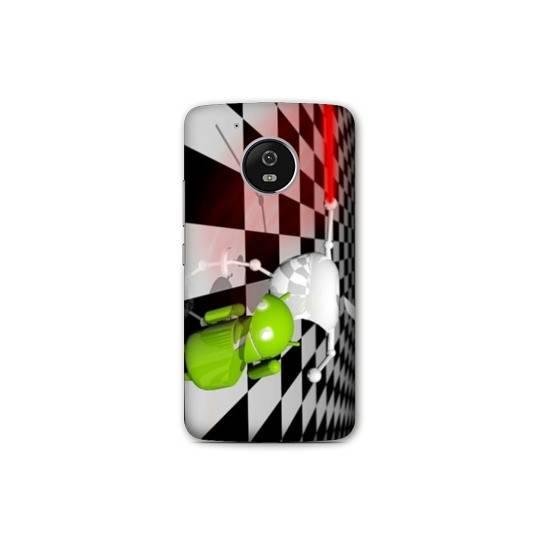 Coque Motorola Moto E4 apple vs android