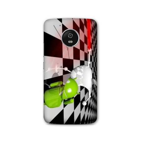 Coque Motorola Moto E4 apple vs android