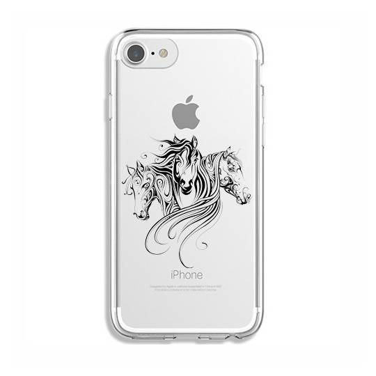 Coque transparente Iphone 6 / 6s chevaux