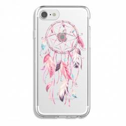 Coque transparente Iphone 6 / 6s feminine attrape reve rose